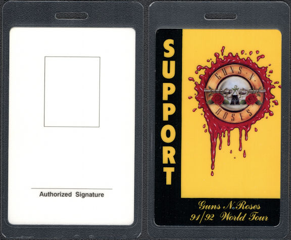 ##MUSICBP0831 - Rare Guns N Roses Support OTTO Laminated Support Backstage Pass From the Use Your Illusion Tour