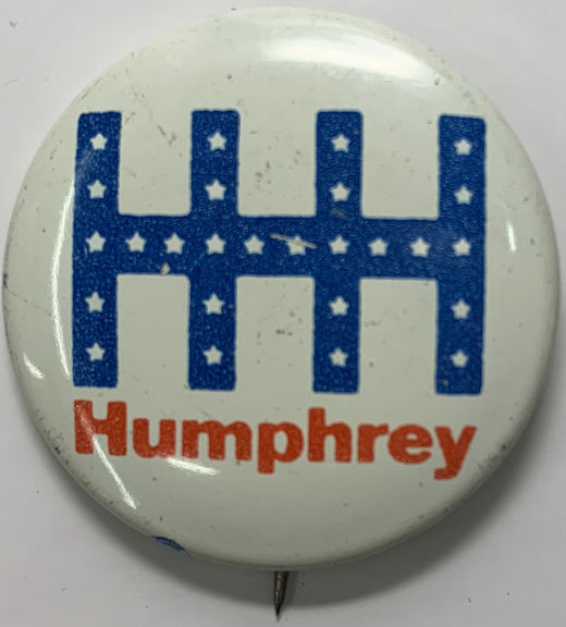 #PL116 - Group of 4 Hubert Humphrey Presidential Candidate Buttons - HHH