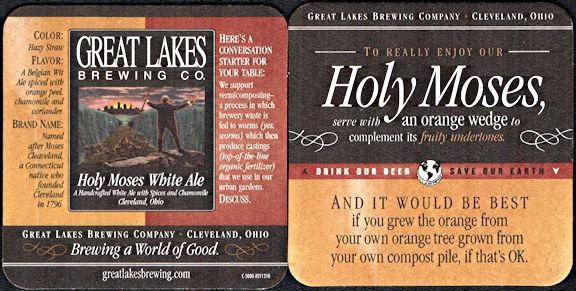 #SP076 - Holy Moses White Ale Coaster