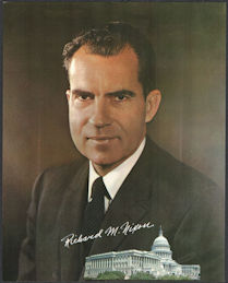 #PL315 - Group of 12 Very Large Richard Nixon Pictures