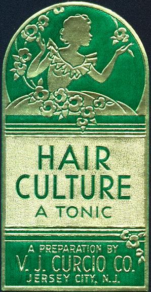 #ZBOT206 - Deco Design Hair Culture Tonic Label