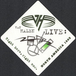 ##MUSICBP0842 - Van Halen OTTO Cloth Backstage Pass from the North American 1993 Right Here Right Now Tour