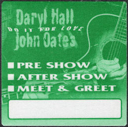 "##MUSICBP0620 -Daryl Hall & John Oates Cloth OTTO Backstage Pass from the 2003 ""Do it for Love"" Tour"