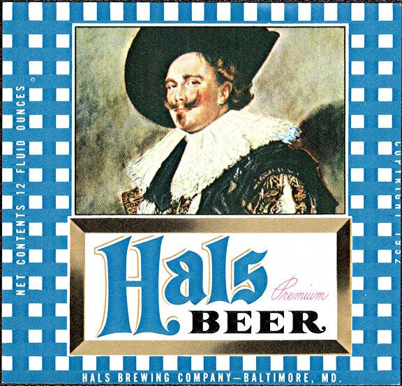 #ZLBE121 - Hals Premium Beer Bottle Label