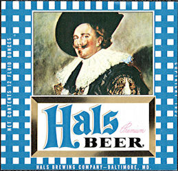 #ZLBE121 - Hals Premium Beer Bottle Label