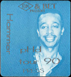 ##MUSICBP0531  - MC Hammer OTTO Cloth Press Backstage Pass - pHd Tour