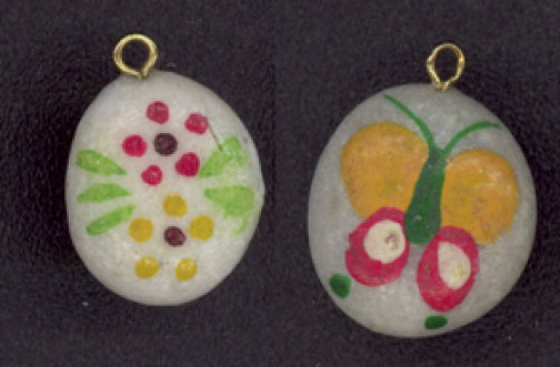 #BEADS0242 - Hand Painted Hippie Flower and Butterfly Dangler - Your Choice