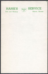 #CA146 - Group of 5 Small Notepad Sheets from Sinclair Dealership Picturing Dinosaur - Ottawa, KS