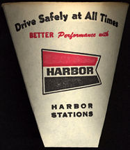 #CA081 - Group of 12 Harbor Gas Station Paper Drinking Cups