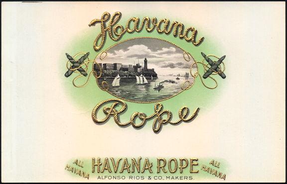 #ZLSC093 - Scarce Havana Rope Inner Cigar Box Label