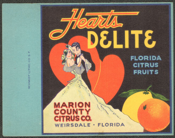 #ZZZ159 - Group of 4 Hearts Delite Advertising/Calling Cards