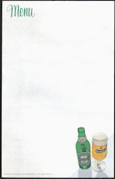 #SP082 - Group of 6 Heineken Menu Sheets