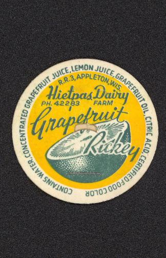 #DC130 - Hietpas Dairy Grapefruit Rickey Bottle Cap - Scarce