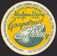 #DC130 - Hietpas Dairy Grapefruit Rickey Bottle Cap - Scarce