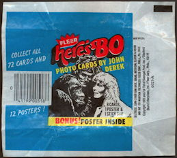 #ZZA266 - Waxed Card Pack Wrapper for Fleer Here's Bo Cards - Bo Derek