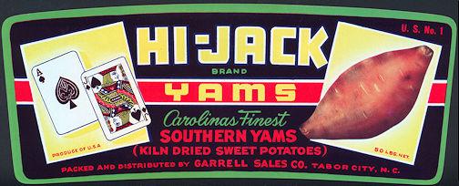 #ZLCA*022 - Hi-Jack Yam Crate Label - Blackjack