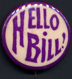 #PL340 - Rare Early Celluloid Hello Bill Elks Pin
