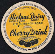 #DC146 - Hietpas Dairy Cherry Drink Bottle Cap - Yellow Version - Scarce