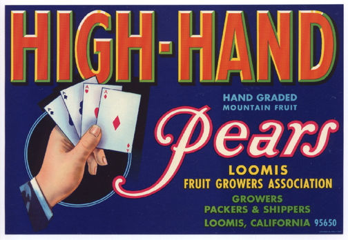 #ZLC238 - HIgh-Hand Pears Crate Label