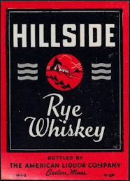 #ZLW161 - Hillside Rye Whiskey Bottle Label