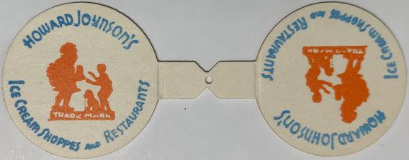 #DC244 - Pair of Howard Johnson's Creamer Caps