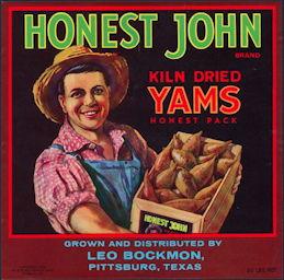 #ZLC140 - Honest John Yams Crate Label