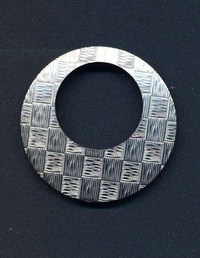#BEADS0786 - Large Cross Hatched Metal Hoop Finding