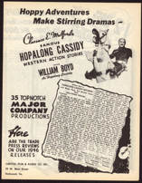 #CH326-05  - Rare 1946 Hopalong Cassidy Trade Press Reviews Brochure