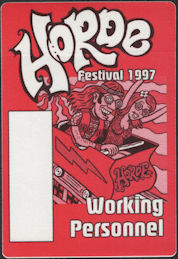 ##MUSICBP0663 - Horde Festival 1997 OTTO Backstage Pass - Neil Young and Crazy Horse