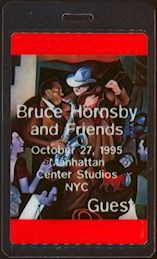 "##MUSICBP0470 - Bruce Hornsby Laminated OTTO Backstage Pass from the ""Manhattan Center"" Show"