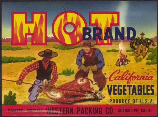 #ZLC278 - Hot Brand California Vegetables Label