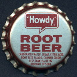#BC178 - Rare Howdy Root Beer Cork Lined Soda Bottle Cap