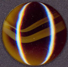#BEADS0651 - Huge 38mm Tiger Eye Glass Cabochon - West German