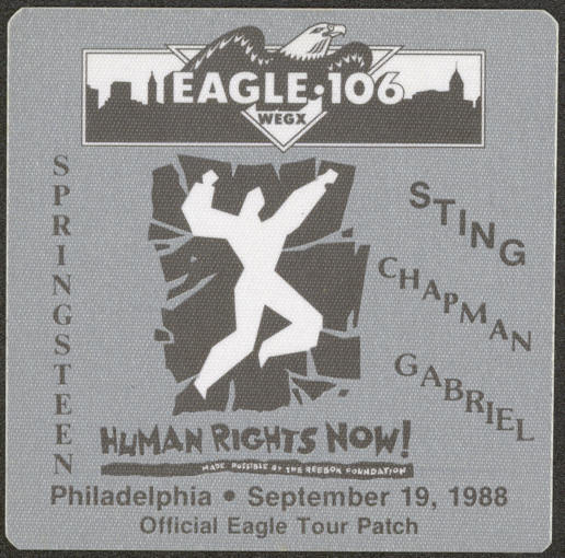 ##MUSICBP0003 - 1988 Amnesty International Patch for the Human Rights Now Concert - Bruce Springsteen and Sting
