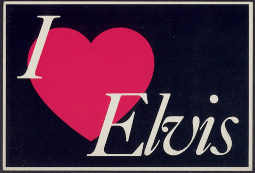 ##MUSICBG0093 -  I Love Elvis Postcard