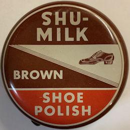#CS426 - Shu-Milk Brown Shoe Polish Tin - Full