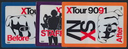 ##MUSICBP0130 - INXS Cloth Backstage Pass for the 1990/91 XTour - As low as $1.50 each
