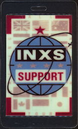 #MUSIC356  1987-88 INXS Laminated Backstage Pass from the Calling All Nations World Tour