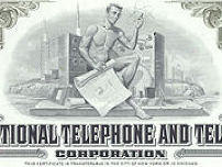 #ZZCE035 - Stock Certificate from the International Telephone and Telegraph Corporation