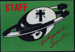 ##MUSICBP0387 - Billy Idol OTTO Cloth Staff Backstage Pass from the 1985 Whiplash Smile Tour