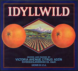 #ZLC432 - Idyllwild Orange Crate Label