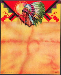#ZLB042 - Indian Chief Stock Broom Label