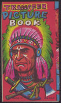 #TY386 - Transfer Picture Book with Indian Chief - Made in Japan