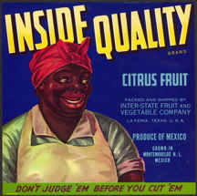 #ZLC259 - Inside Quality Citrus Fruit Crate Label - Black Americana