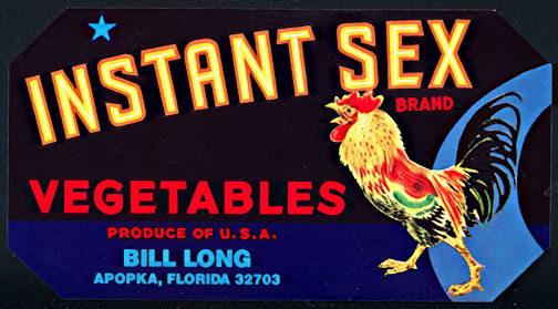 #ZLCA*010 - Instant Sex Vegetables Crate Label