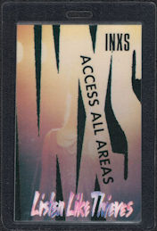 ##MUSICBP0564 - 1985 INXS Laminated OTTO Access All Areas Backstage Pass from the Listen Like Thieves World Tour