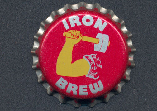 #BC133 - Group of 10 Iron Brew Cork Lined Soda Bottle Caps