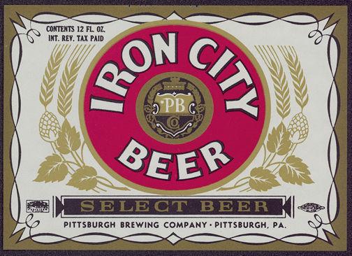#ZLBE031 - Iron City IRTP Beer Label