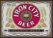 #ZLBE031 - Iron City IRTP Beer Label