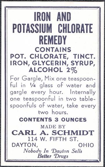 #ZBOT224 - Iron Potassium Chlorate Remedy Bottle Label